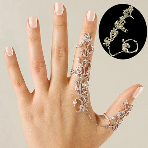 Женщины несколько роза кристалл стек костяшки пальцев кольца комплект мода ювелирных ...