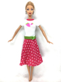 NK One Set Unique Doll Garments Lovely Costume Informal Put on Skirt Celebration Robe For Barbie Unique Doll Child Toys Finest Reward 038A