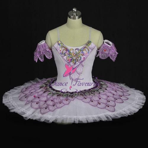Classical Ballet Tutu Ballet Dress Ballet Costume Dance Wear Girls Ballerina Dress Pale Lavender Semi-stretched Fabric(China (Mainland))