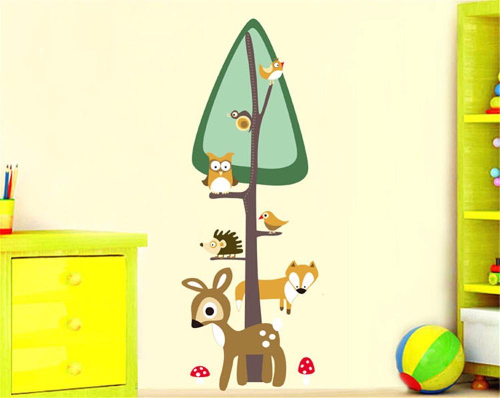 Owls animals tree deer bedroom decorate children room wall for Stickers for kids room