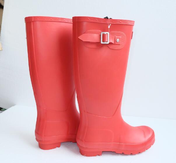 New Women's Rain Boots H-Brand High Rainboots,Lady's classic rainboots women wellies boots fashion rain boot outdoor water shoes(China (Mainland))