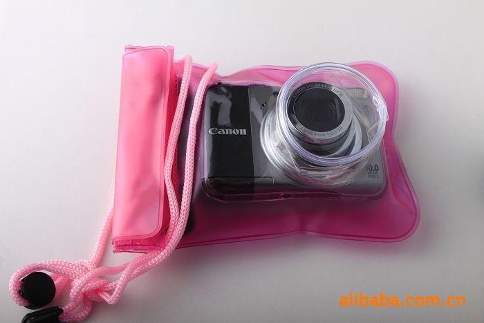 Free shipping Digital camera waterproof bag waterproof bag belt lens adrift retractable bags(China (Mainland))