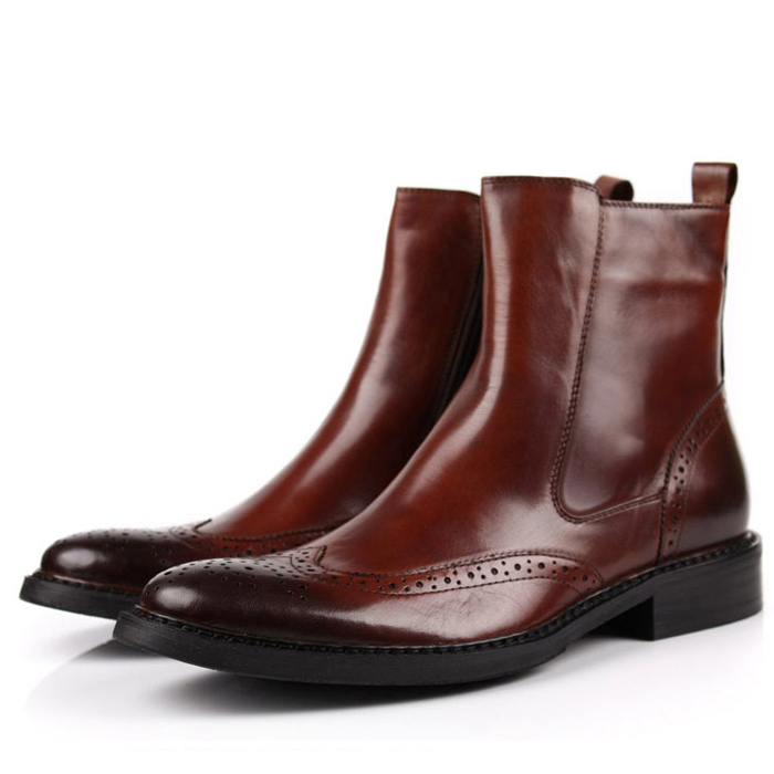 Здесь можно купить  In 2 Color 2014 New Fashion Genuine Leather Mid Calf Men