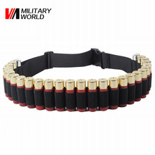 Buy Military World 130*5cm Tactical Hunting Shotgun 12 GA Belt Nylon Airsoft 25 Rounds Bullet Ammo Holster Pouch Belt Accessories for $7.40 in AliExpress store