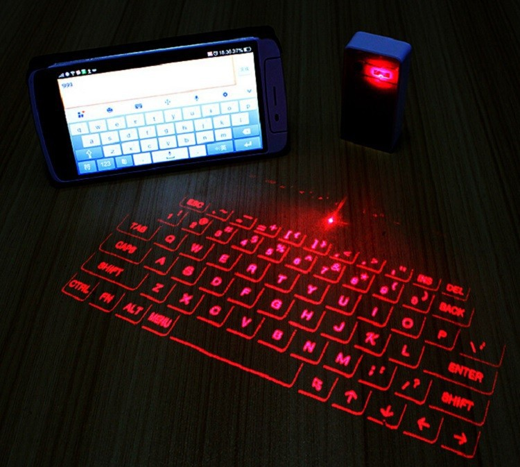 Mini wireless bluetooth virtual laser projector keyboard for Bluetooth projector for iphone 6