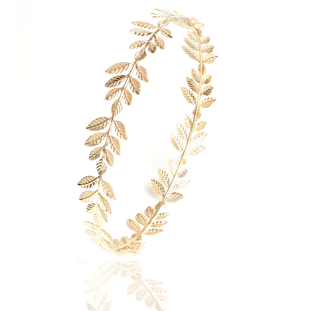 2016 tiara charm Gold-color leaves shape hairband for wedding party jewelry Bridal hair accessories accessoire Cheveux Mariage(China (Mainland))