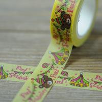 20 pcs/lot DIY Japanese Paper Decorative Adhesive Tape Cartoon circus Washi Tape/Masking Tape Stickers Size 15mm*10m W32SH10