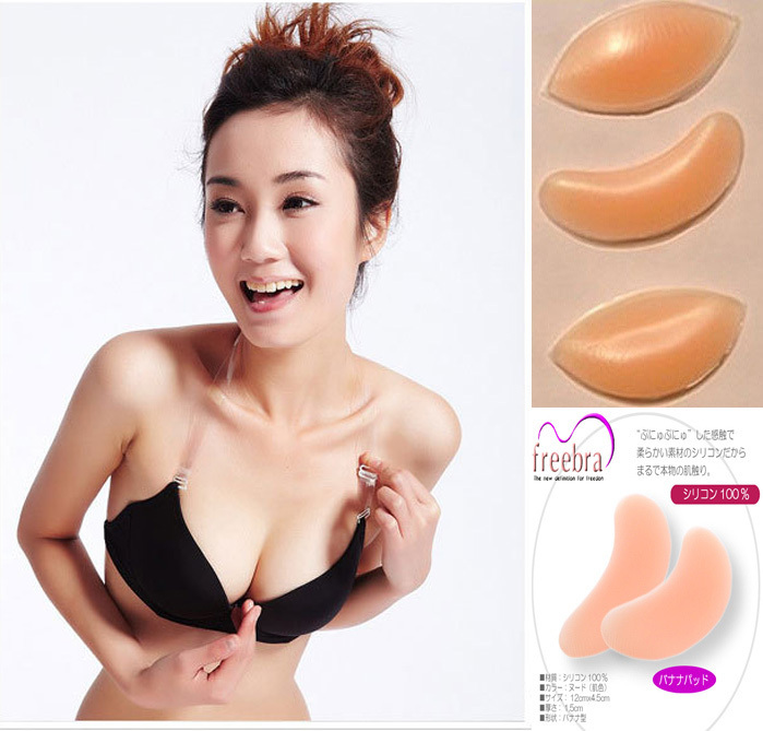 2pcs sexy lady's Silicone Breast Enhancers push up Bra Insert Pad, fashion Invisible Bra Free Shipping(China (Mainland))
