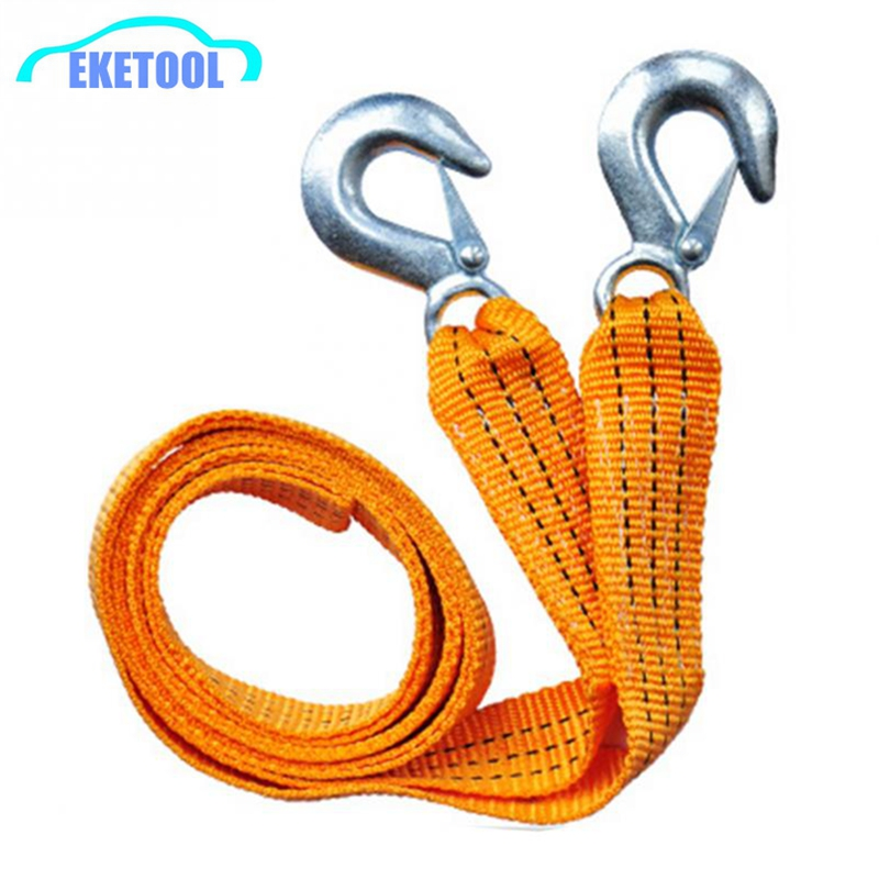 High Quality Auto Tow Rope Nylon+Hook Tow Cable For Car Emergency 300*4.5CM Maximum 3Tons Outdoor Emergency Tools(China (Mainland))