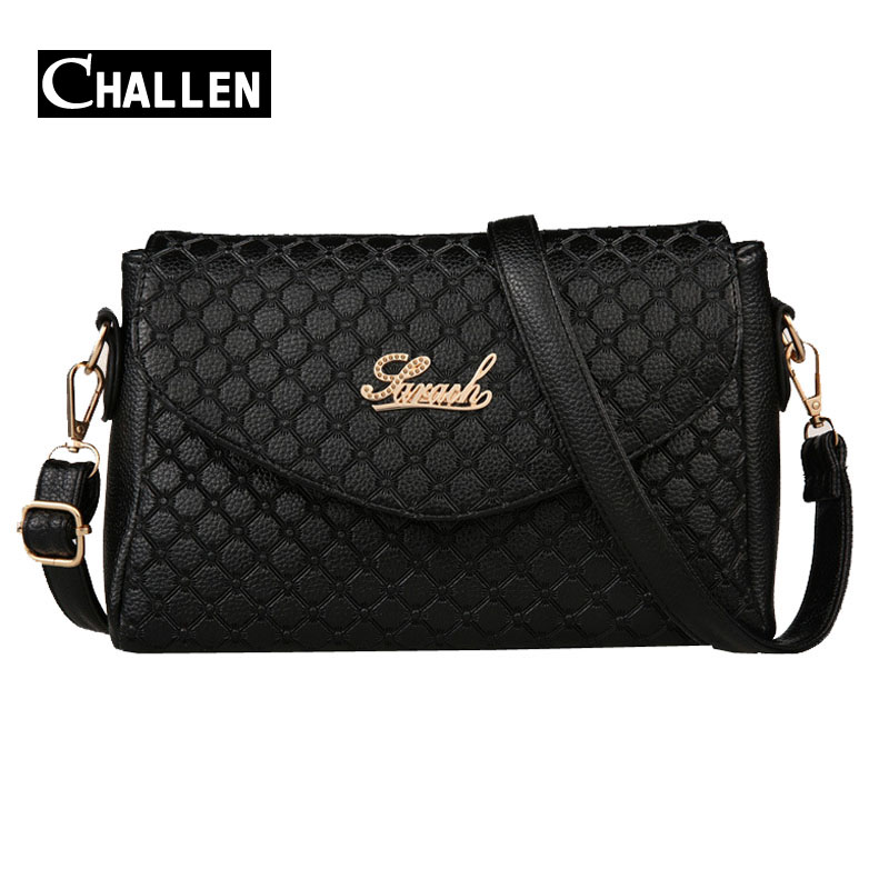 famous brand designer logo shoulder women bag vintage pu leather messenger bags female luxury handbag outlet fashion tote clutch(China (Mainland))