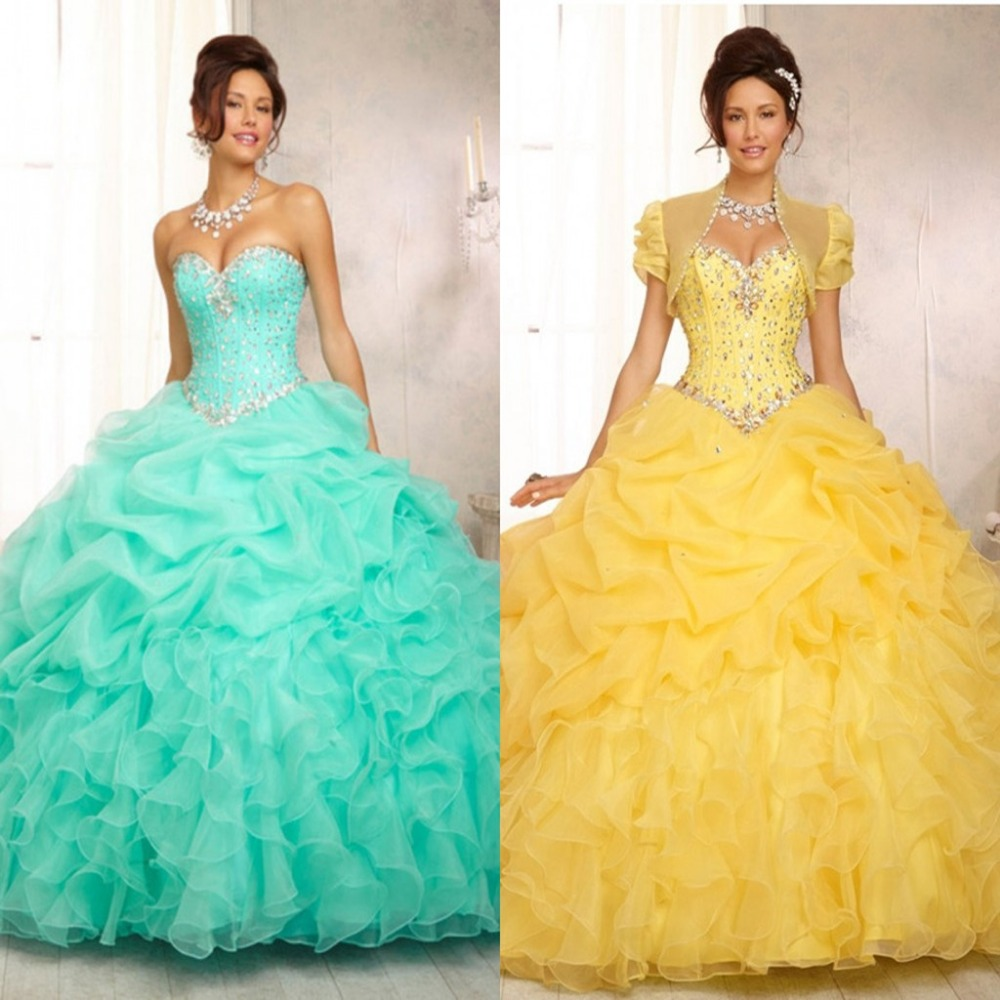 Buy 2016 new custom made yellow for Yellow wedding dresses for sale