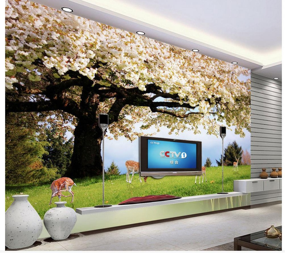 Custom photo wallpaper large 3d sofa tv background for 3d wall murals for bedrooms