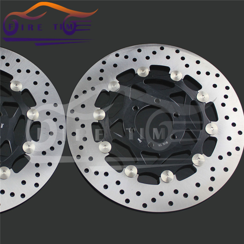 2  pieces motorcycle Front  Brake Discs Rotor   for  YAMAHA YZF600R 1994 1995 1996 1997 1998 1999 2000 2001 2002 2003 2004  2005