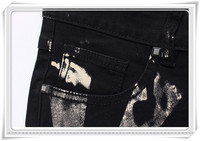 2015 году печатать цветные джинсы, Мужские джинсы, байкер calca узкие джинсы хлопка мужчин брюки, Мани окрашены печати джинсы