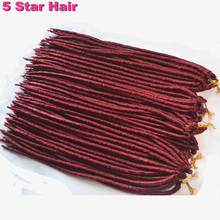 24strands/pack Faux Locs Braids Synthetic Hair Faux Dreadlocs Braiding Hair Extensions Havana Twist Braids Soft Dread Locks