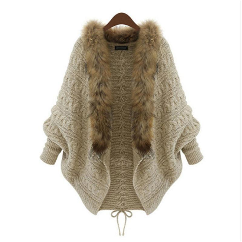 women long cardigans 2015  Poncho Overcoats Outerwear Coat Tops Women Sweater Knitted New Brand Casual Female Jacket