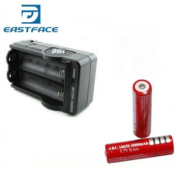 1Sets 18650 Red Battery 3.7V 3000 mAh Li-ion rechargeable battery + 1*charger Freeship