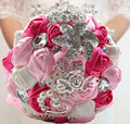 Luxury Wedding Bridal Bridesmaid Bouquet Handmade Bride Bouquets Artificial Feathers Flowers Holding Flower Home Decor Red Black