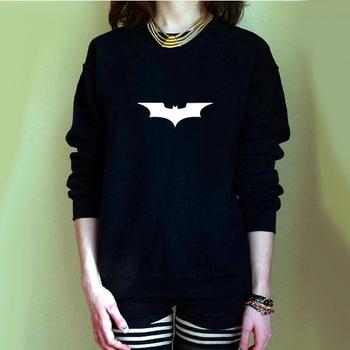 Women Batman Bat Printed Sweatshirt Womens Female Pullover Print Cartoon Comics Clothes