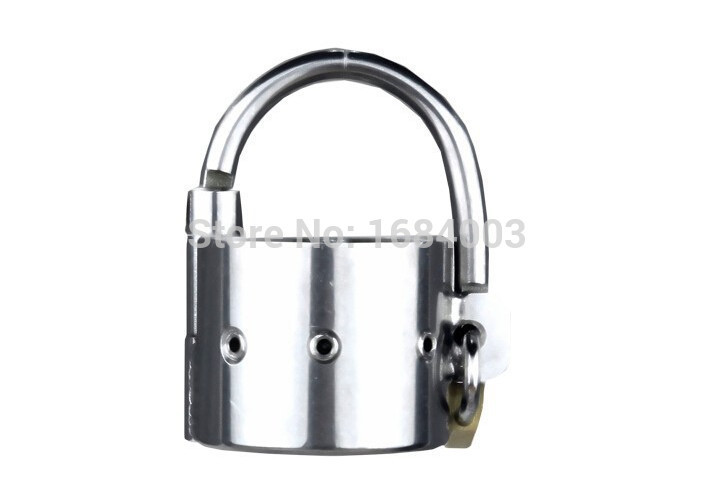 Stainless Steel Scrotum Bound Heavyweight Cockring Testicle Ring Penis Ring Lock<br><br>Aliexpress