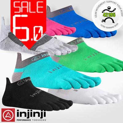 Injinji Run 2.0 No Show Light Weight LW Coolmax Running Socks, Five Finger Socks,3 pairs/lot, Grey, White, Black, Blue(China (Mainland))