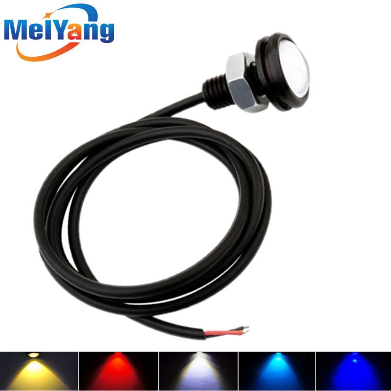 Car DIY 2.3Cm 9W 6000K 500-Lumen White/Red/Yellow/Blue/Green Waterproof Eagle Eye LED Daytime Running/Brake Lamps (DC 12V) - Ming Hui Technology co., LTD store