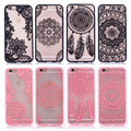 Floral Sexy Lace Mandala Case For iPhone 7 6 6S Plus Cases Vintage Flower Clear Cover