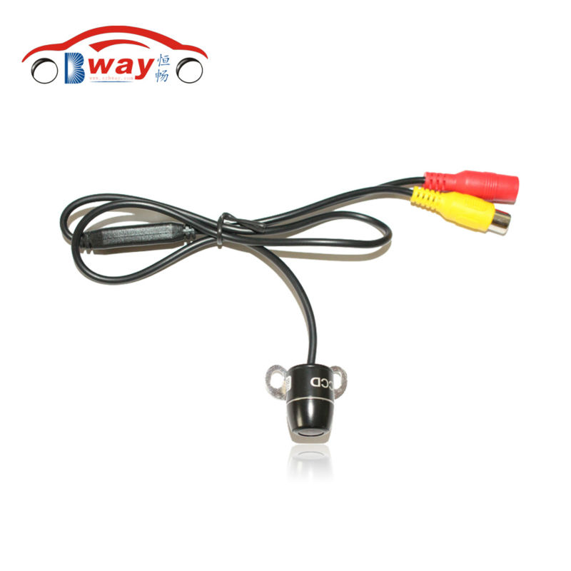 China Post Free Shipping 100% Waterproof night view small batterfly plug in universal Rear View Camera with parking line(China (Mainland))
