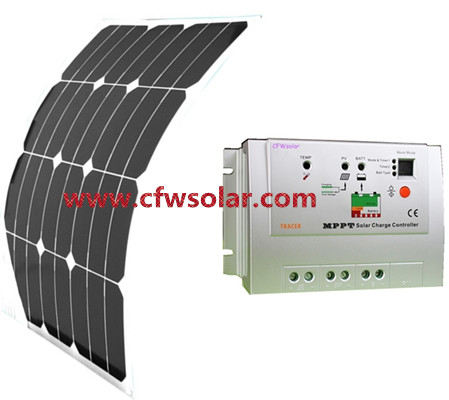 30W solar panel manufacturers in china with connection Box + 0.9M cable, 12V&24V Auto MPPT solar charege controller.(China (Mainland))