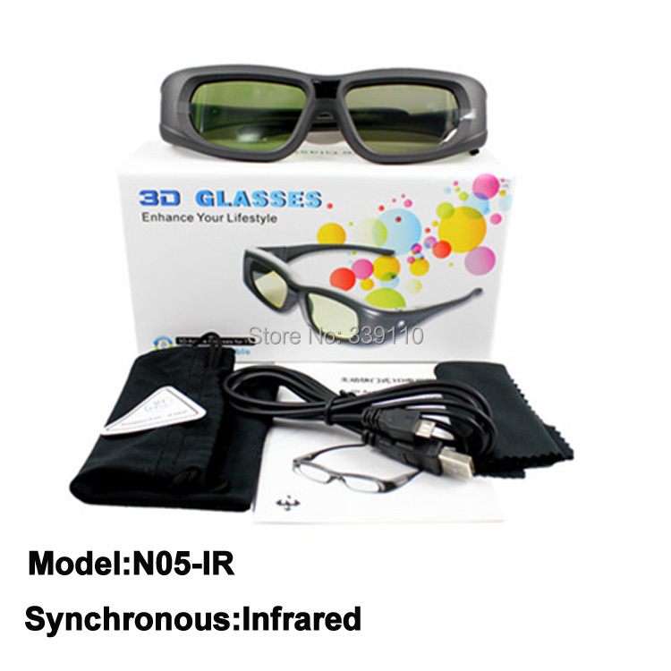 internal infrared transmission active shutter ir 3d glasses for philips 32PFL5507T 46PFL5507H 3d tv freeshipping(China (Mainland))