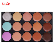 1Pc Special Professional 15 Color Concealer 15 colors Facial Face Cream Care Camouflage Makeup base Palettes