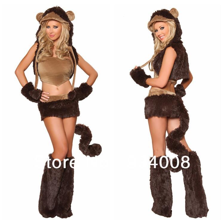 Free Shipping naughty monkey costume, furry animal costumes, furry costume(China (Mainland))