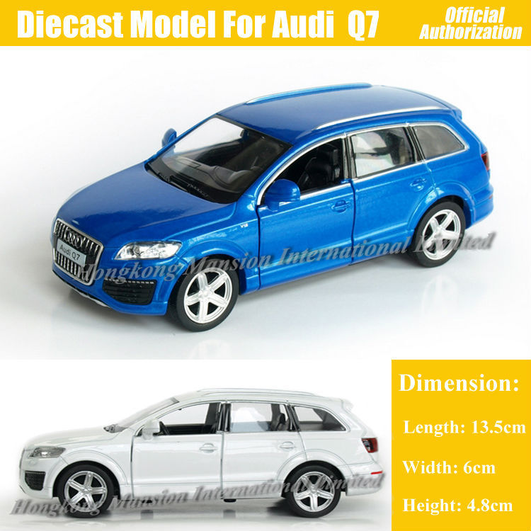 1:36 Scale Diecast Alloy Metal Car Model For Audi Q7 Collection Model Pull Back Toys Car - Blue / White / Red / Black(China (Mainland))