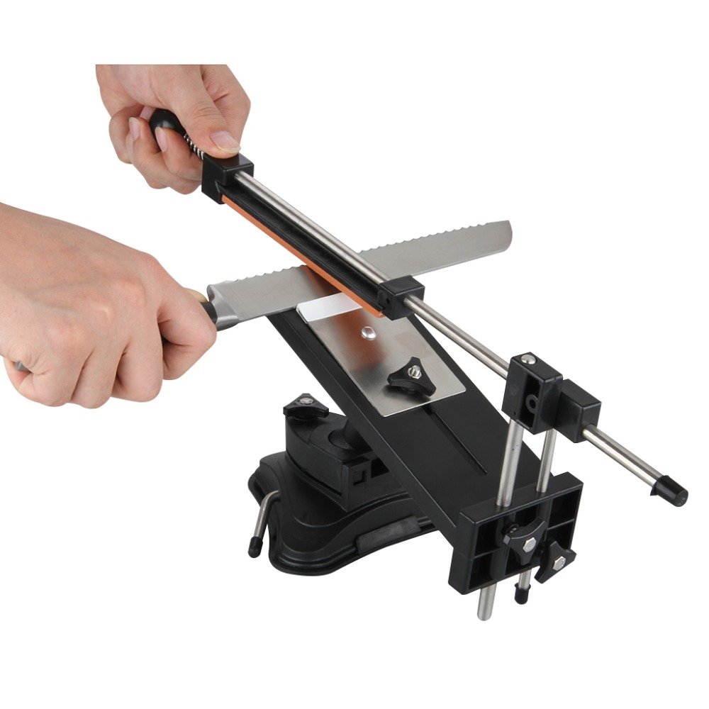 Upgraded Version Fixed-angle Knife Sharpener Professional Kitchen Knife Sharpening Kits System with 4 Grindstones Kitchen Tools(China (Mainland))