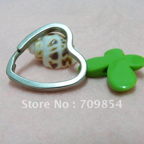 free shipping!!! 500pcs/lot aluminium plated Mickey Heart Split Ring 35mm /jewelry accessories(China (Mainland))