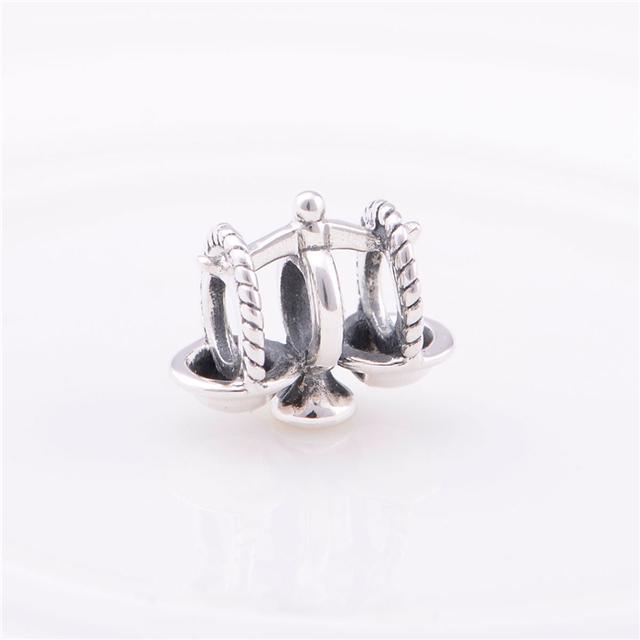Стерлингового серебра 925 бусины весы форма шарм женщины DIY изготовления ювелирных изделий подходит Chamilia стиль подвески браслет прямая поставка