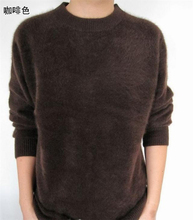 Lafarvie Off Sale Standard Solid Pullovers Full Sleeves O-Neck 100% Mink Cashmere Auturm & Winter  Men Formal Knitted Sweater(China (Mainland))