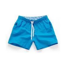 Verano Pantalones cortos casuales de los hombres de pantalones cortos de playa de moda impreso cintura pantalones cortos hombre recto cordón cortos S-XXL Venta caliente(China)