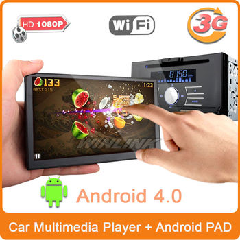 7 inch 2 din universal auto dvd player google android car pad pc support 3g wifi gps navigation dvr bluetooth tv