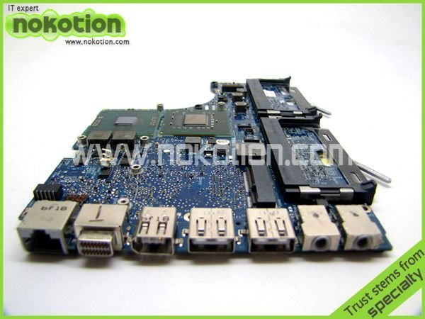LAPTOP MOTHERBOARD for APPLE MACBOOK 1181 T8300 CPU ON BOARD 2.4GHz  820-2279-A DDR2