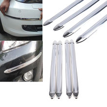 Free Shipping 4Pcs Chrome Bumper Corner Guard Edge Protector Car Auto Bil Automobile Carro Decoration Strips (China (Mainland))