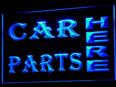 i644-b CAR PARTS HERE Auto Body Shop LED Neon Light Sign Wholesale Dropshipping On/ Off Switch 7 colors DHL(China (Mainland))