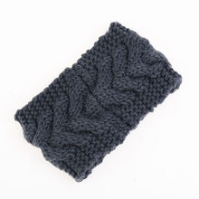 Beauty Fashion 13 Colors Flower Crochet Knit Knitted Headwrap Headband Ear Warmer Hair Muffs Band Winter(China (Mainland))