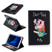 For Samsung Galaxy Tab A 10.1 T580 Tablet Case Print Design Folio PU Leather Protective Cover Shell Protector