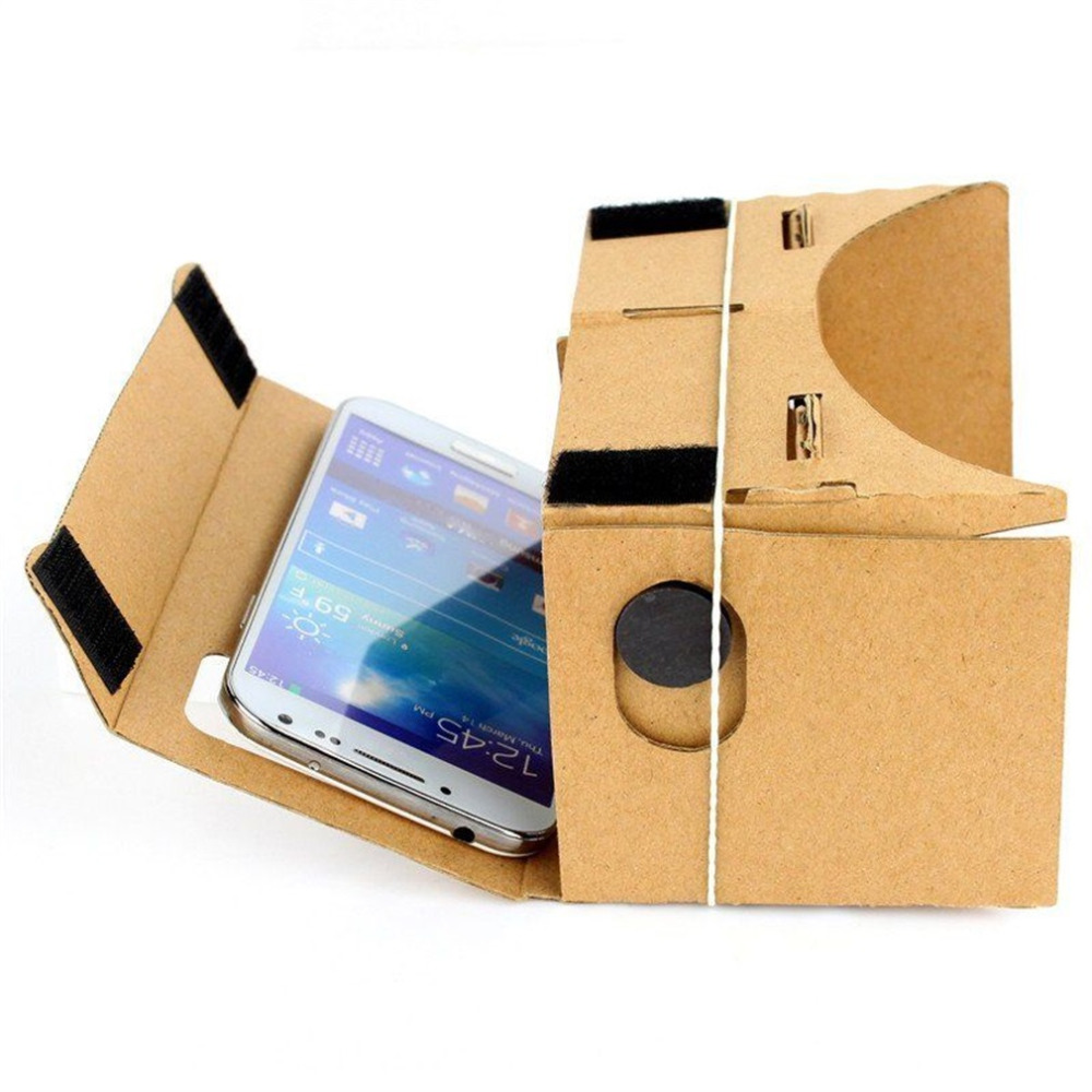 Toys Cardboard Virtual Reality 3D Glasses Video Novelty Film Android Phone Gag Toys DIY