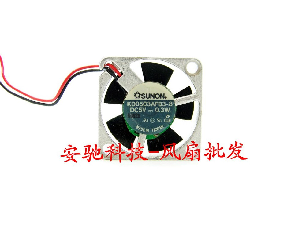 Free Shipping SUNON DC 5V 0.3W KD0503AFB3-8 aluminum frame 3010 30mm 3CM small cooling fans(China (Mainland))