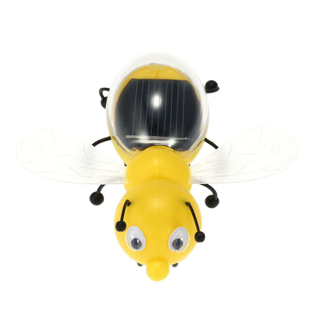 Solar Energy Powered Cute Bee Robot Solar Toy For Children Kids Intelligence Development Educational Toys Gift(China (Mainland))