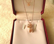 Free Shipping - wholesale necklace Gold plated in rose gold Eiffel Tower Crown Necklace 1012263835(China (Mainland))
