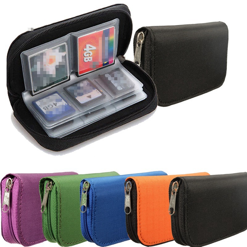 Best Promotion 22pcs CF/SD/SDHC/MS/DS Micro Memory Card Case Storage Carrying Pouch Wallet Bag Holder 6 Colors(China (Mainland))