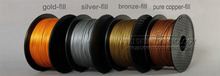 Wholesale 3D Printer Filament BronzeFill color 1 75mm 0 8kg 2 2lbs Metal Consumable Material for